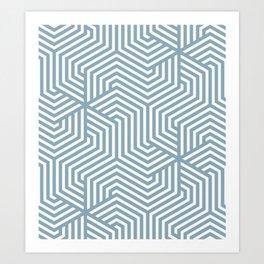 Pewter Blue - heavenly - Minimal Vector Seamless Pattern Art Print