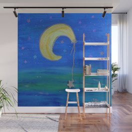 The Moon And Its Star Wall Mural