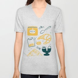 breakfast time Unisex V-Neck
