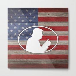 Trump American Flag Metal Print