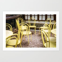 Empty Meeting in Yellow Art Print