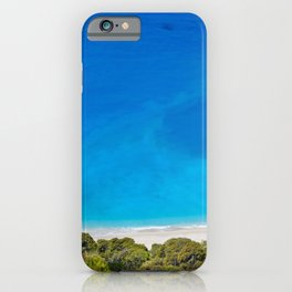 The incredible colors of the beach Egremnoi in Lefkada, Greece iPhone Case