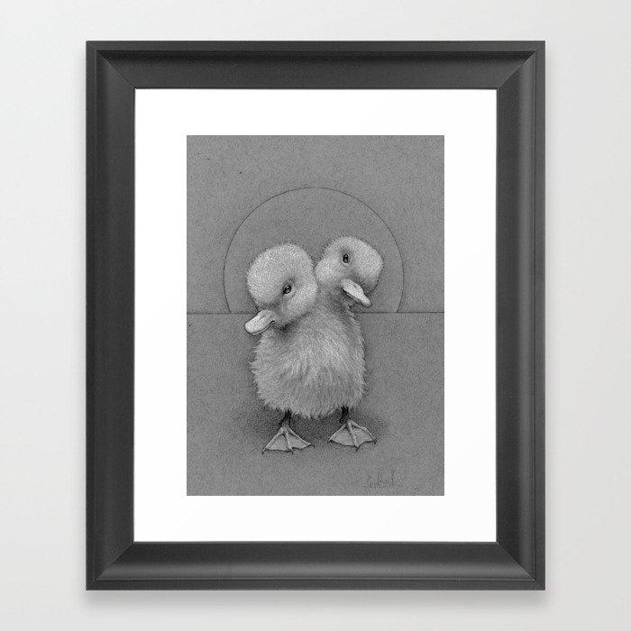 Baby Duck(s) Framed Art Print