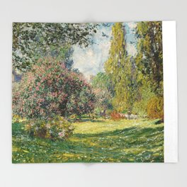 The Parc Monceau by Claude Monet Throw Blanket
