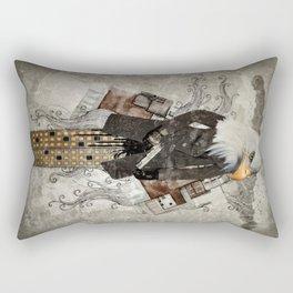 Secret Agent Eagle One Rectangular Pillow