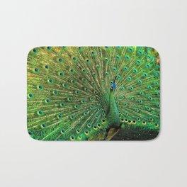 Beautiful Peacock Bath Mat