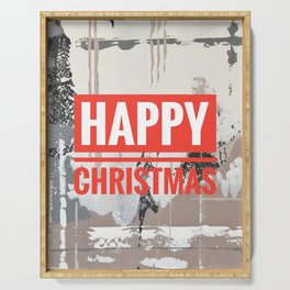 Snowfall - Happy Christmas Serving Tray
