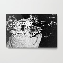 Analog Glitch Metal Print