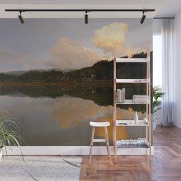 Lake at sunset Wall Mural