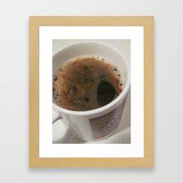 Delicious Caffeine Framed Art Print