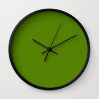 avocado Wall Clocks featuring Avocado by List of colors