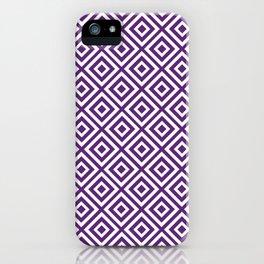 Purple Diamond Gometric Pattern iPhone Case