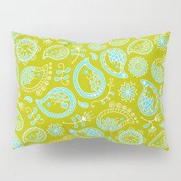 Hedgehog Pasley_Blue-Green Pillow Sham