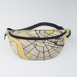 New Orleans Yellow City Map Fanny Pack