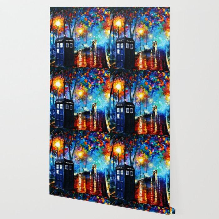 Tardis Art Painting Starry Night Wallpaper