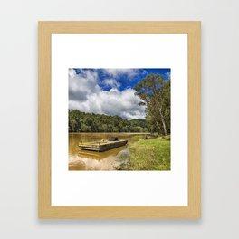 Pontoon on the Barron River Framed Art Print