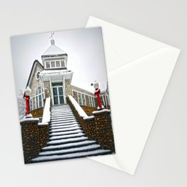Church in the Snow Stationery Cards