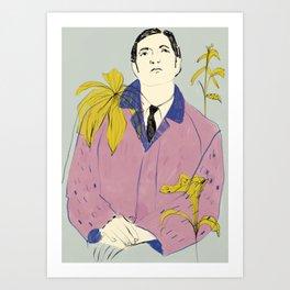 Yellow poems Art Print