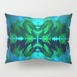 Blue columns in Abstract Pillow Sham