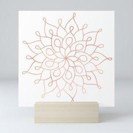 Mandala Rose Gold Pink Star Mini Art Print