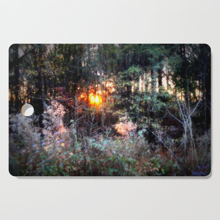 Sunset Forest : Where The Fairies Dwell Cutting Board