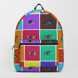 on the roads at night i saw the glitter of eyes Backpack
