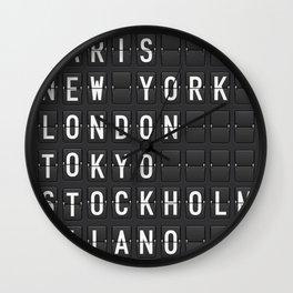 Paris, New York, London, Tokyo, Stockholm, Milano Wall Clock