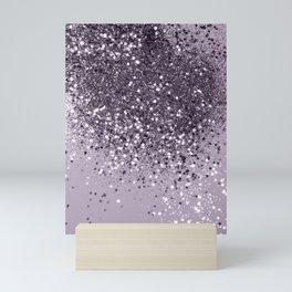Sparkling Lavender Lady Glitter #2 #shiny #decor #art #society6 Mini Art Print