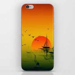 Japanese Sunset iPhone Skin