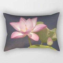 Pink Lotus by Teresa Thompson Rectangular Pillow