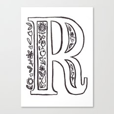 R is for Canvas Print