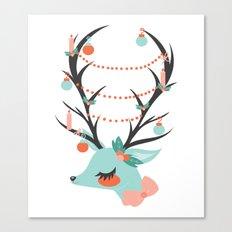Retro Reindeer Canvas Print