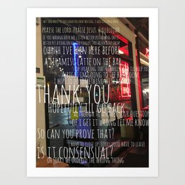 Words in a Cafe Art Print