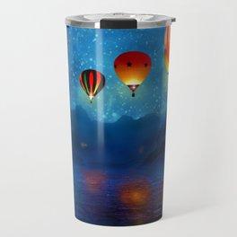 Hot Air Ballooning on a Starry Night Travel Mug
