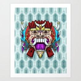 Greed Barong Mask Art Print