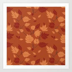 Fall foliage pattern Art Print