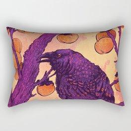 Raven and Persimmons Rectangular Pillow