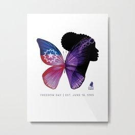 Juneteenth Lupus Awareness Metal Print