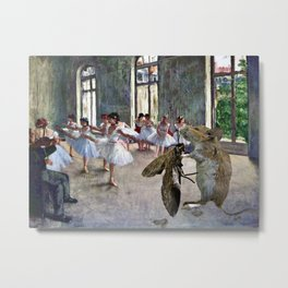Mouse and Moth Cotillion Metal Print