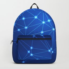 Network. Connection concept. Backpack