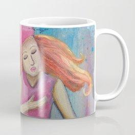 She Thought She Was a Mermaid, Mixed Media Artwork Coffee Mug