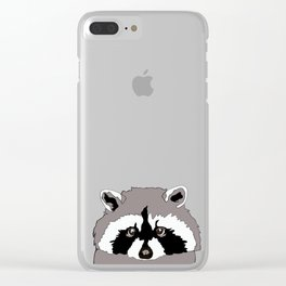Canadian Raccoon Clear iPhone Case
