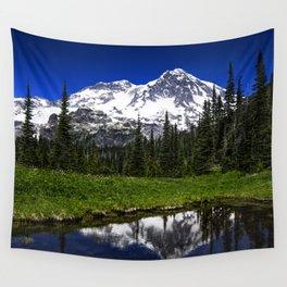 Mt Rainier Reflection Wall Tapestry