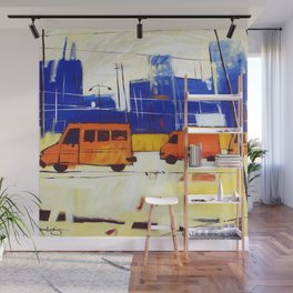 Yellow Buses Wall Mural