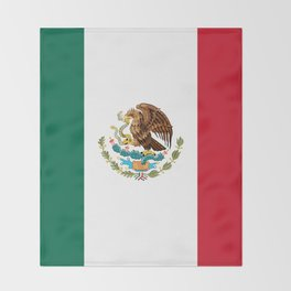 The Mexican national flag - Authentic high quality file Throw Blanket