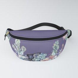 Desert Gemstone Oasis Purple Fanny Pack