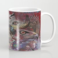 totem Mugs featuring Totem by Ray Stephenson