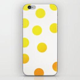 BIG YELLOW DOTS iPhone Skin