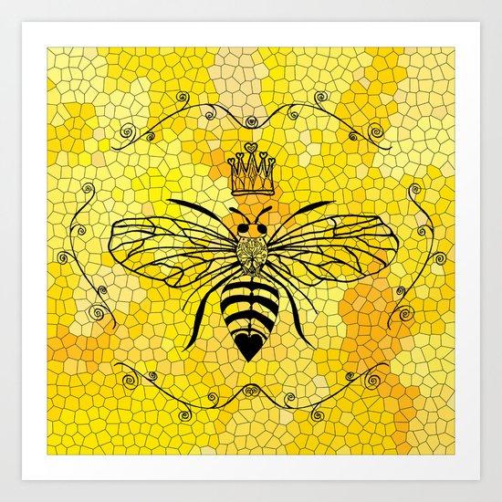 Queen Bee... Art Print