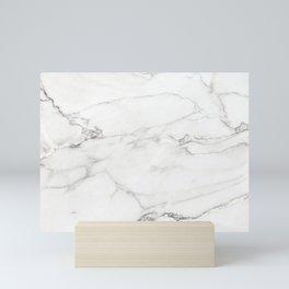 White Marble 006 Mini Art Print